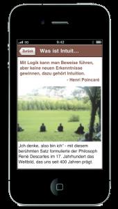 Die iPhone-App Auf den Spuren der Intuition