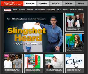 Screenshot Startseite Coca Cola Company