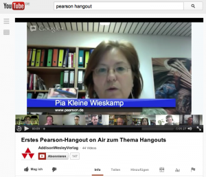 Das erste Hangout des Pearson-Verlags