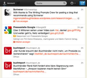 Der 2. Tweet ist Werbung - auf den ersten Blick nicht von den anderen Inhalten zu unterscheiden.