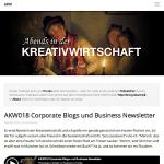 Screenshot Website Abends in der Kreativwirtschaft